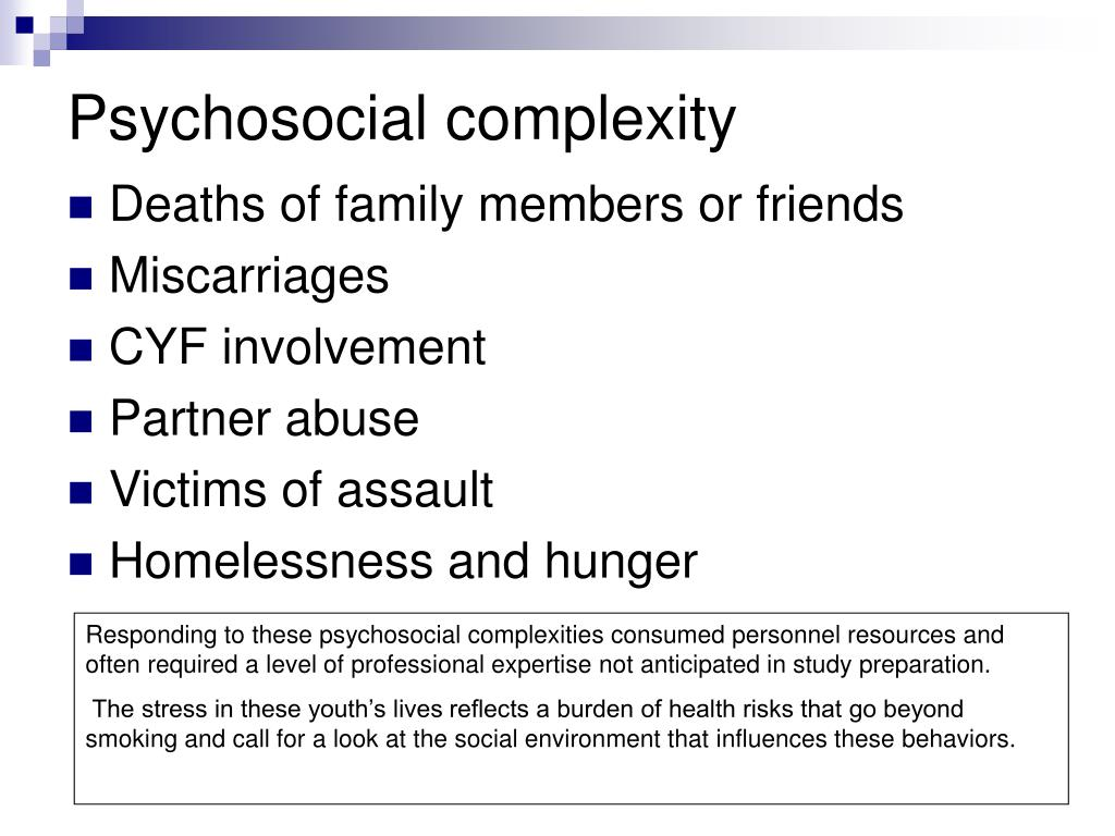 Psychosocial complexity