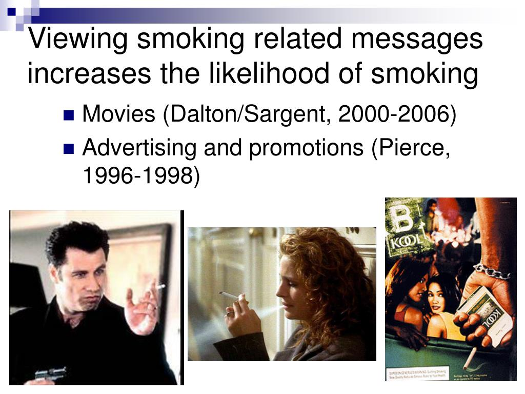 Viewing smoking related messages increases the likelihood of smoking