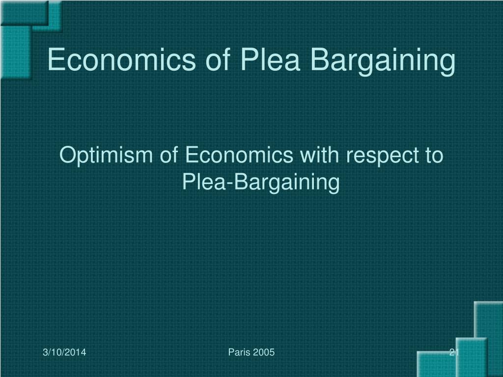 Economics of Plea Bargaining