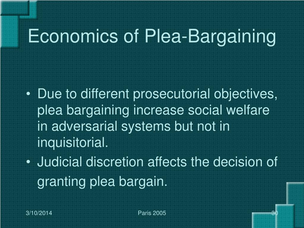 Economics of Plea-Bargaining