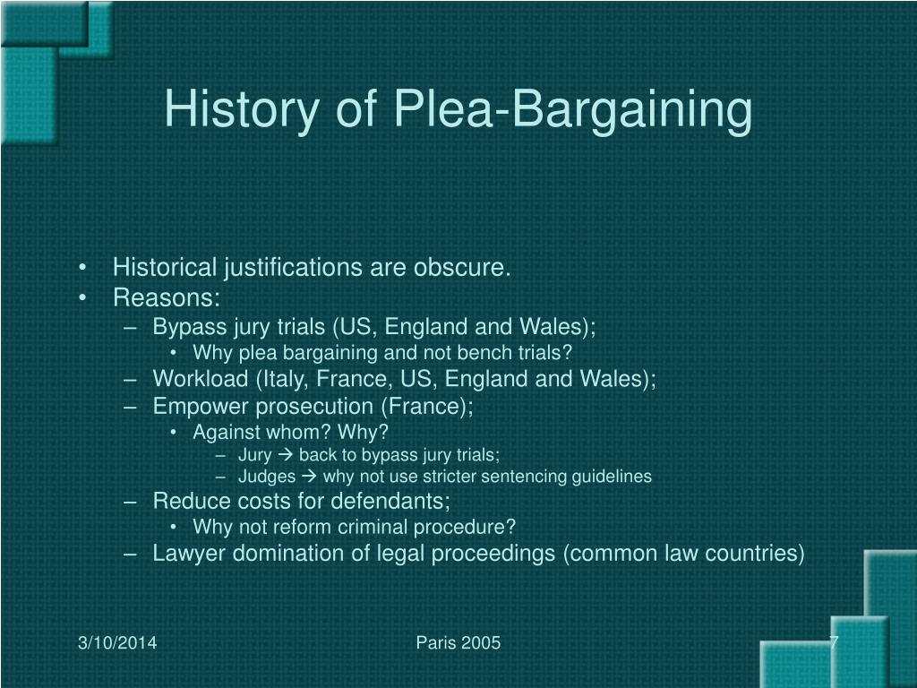 History of Plea-Bargaining