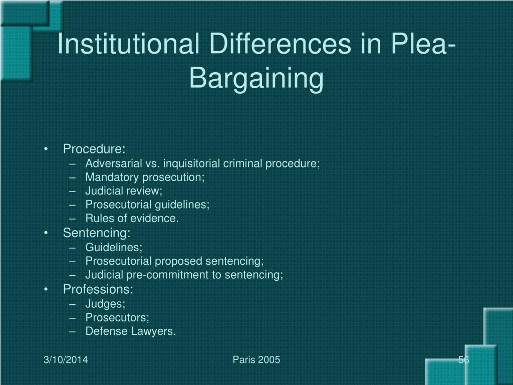 Institutional Differences in Plea-Bargaining