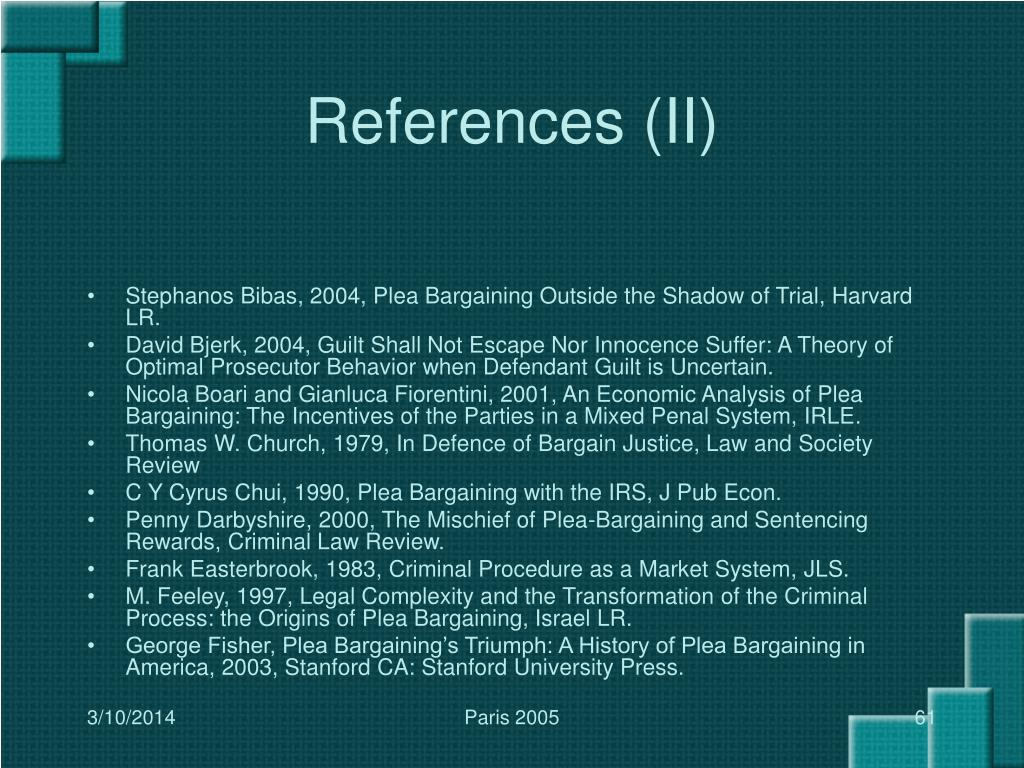 References (II)