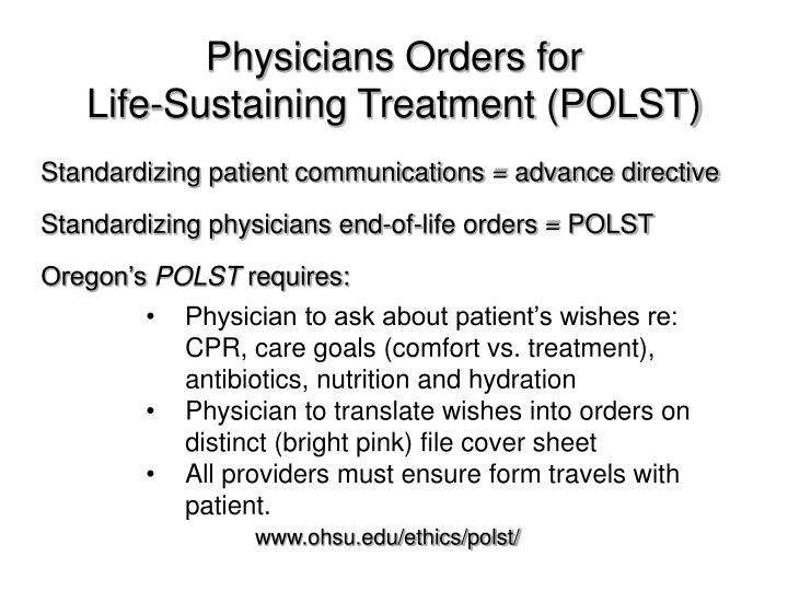 Physicians Orders for