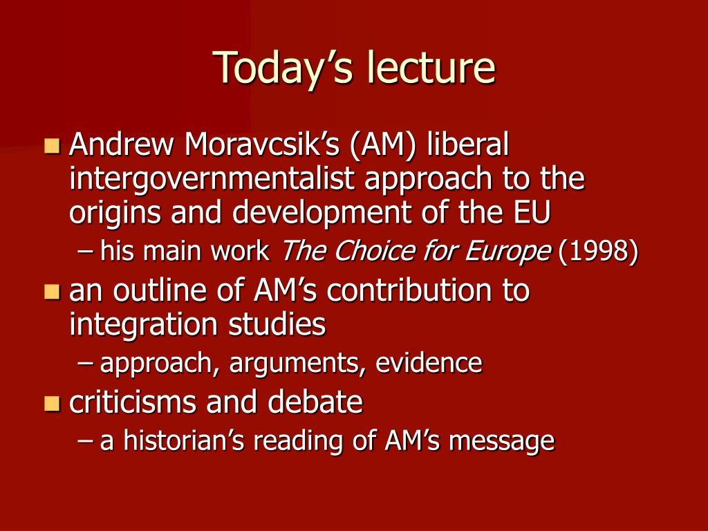 Today's lecture