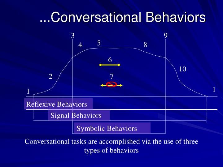 ...Conversational Behaviors