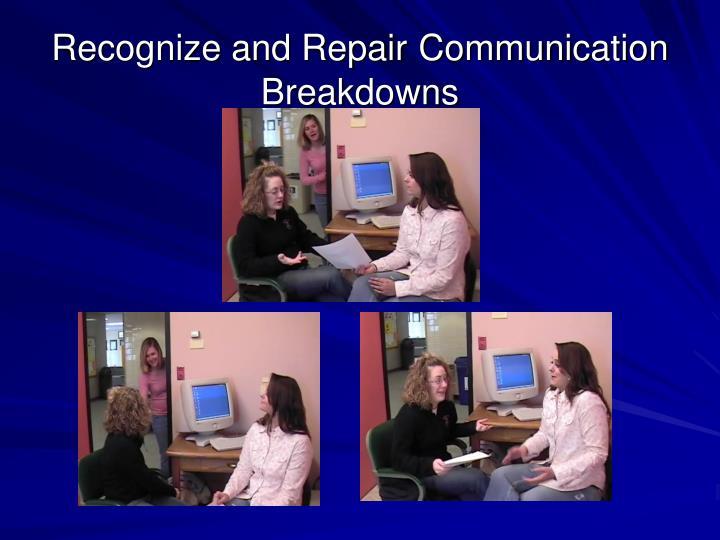 Recognize and Repair