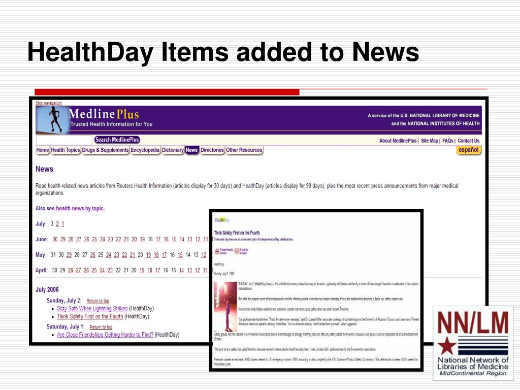 HealthDay Items added to News