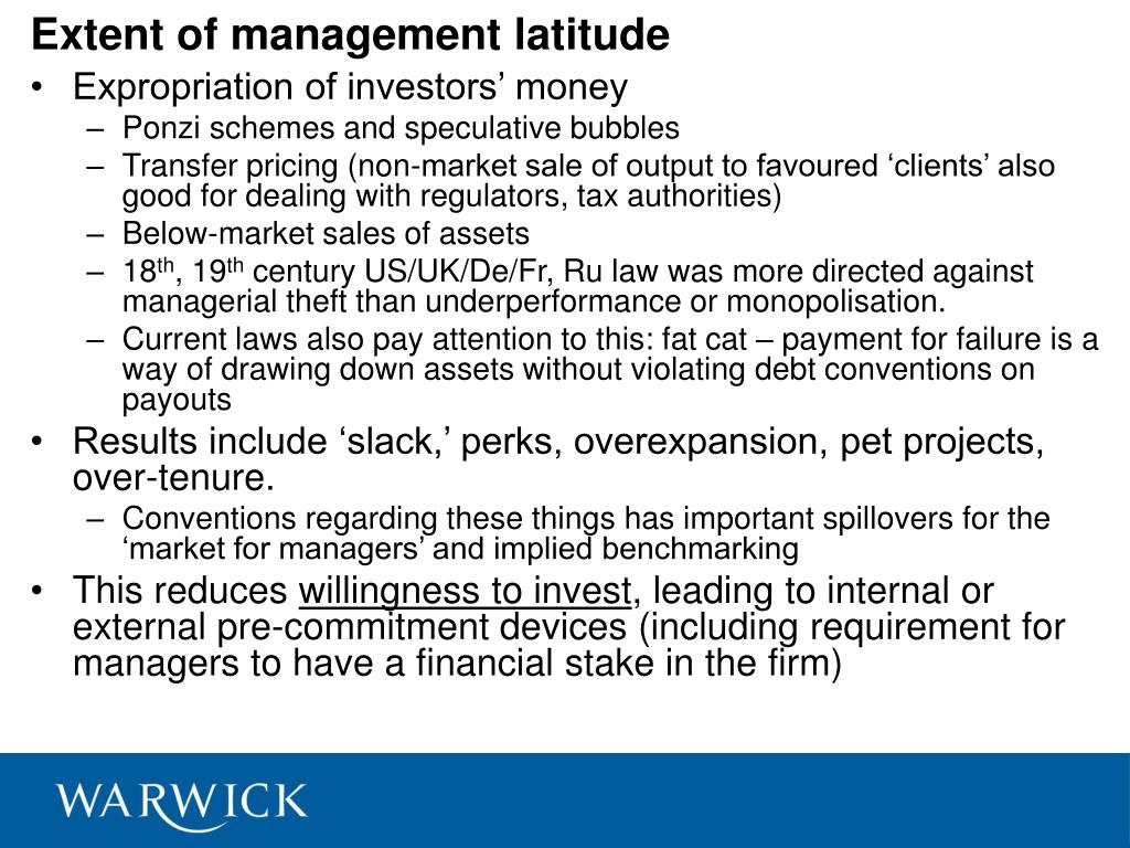 Extent of management latitude