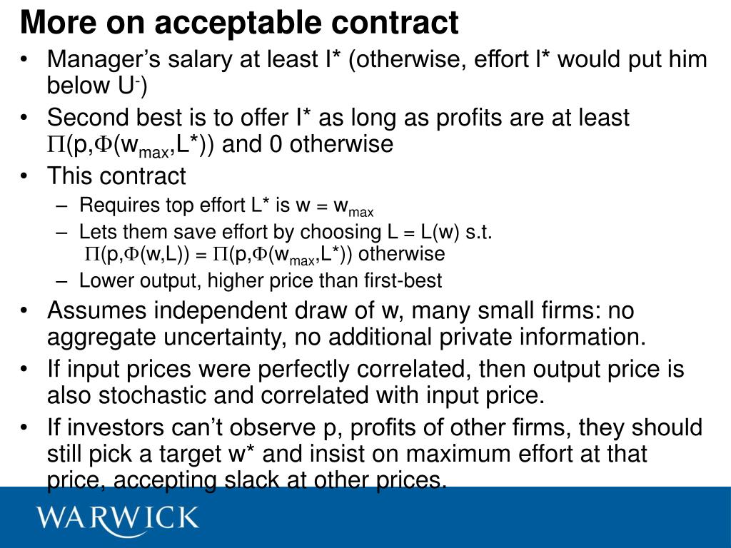 More on acceptable contract