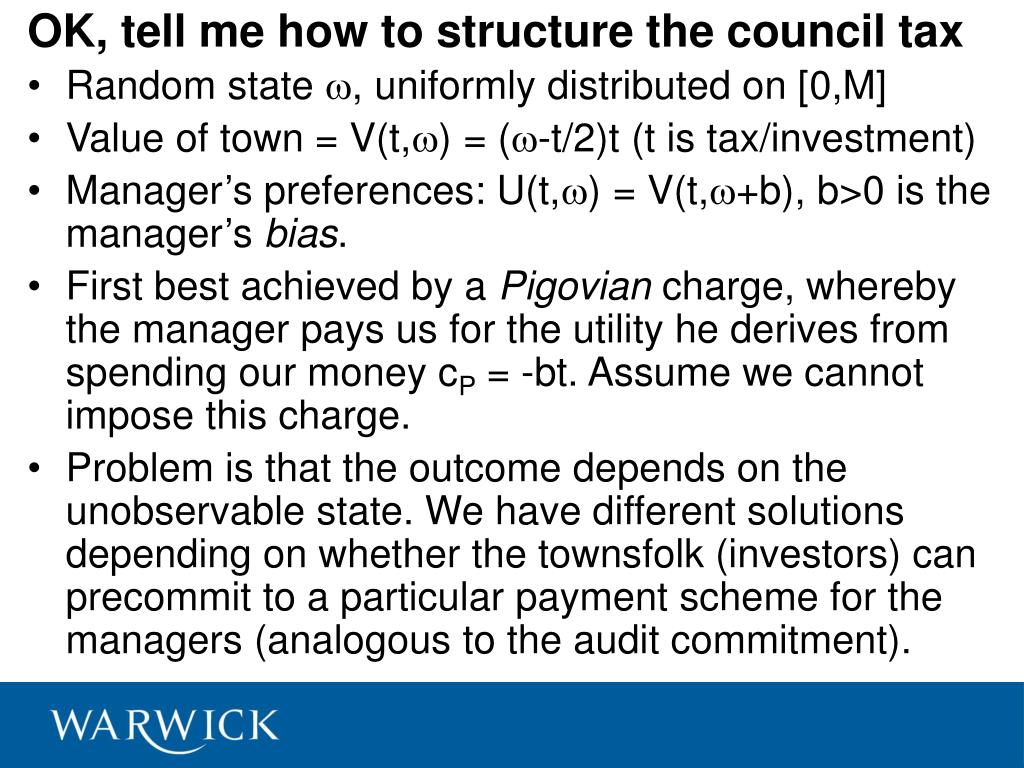 OK, tell me how to structure the council tax