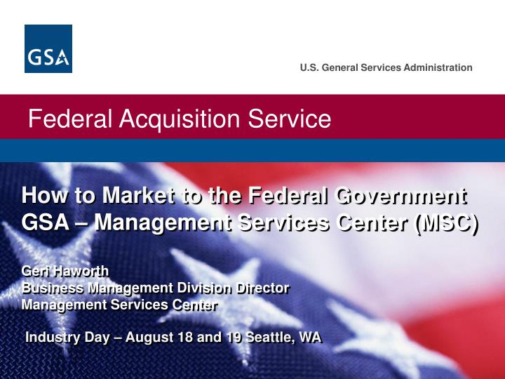 How to Market to the Federal Government