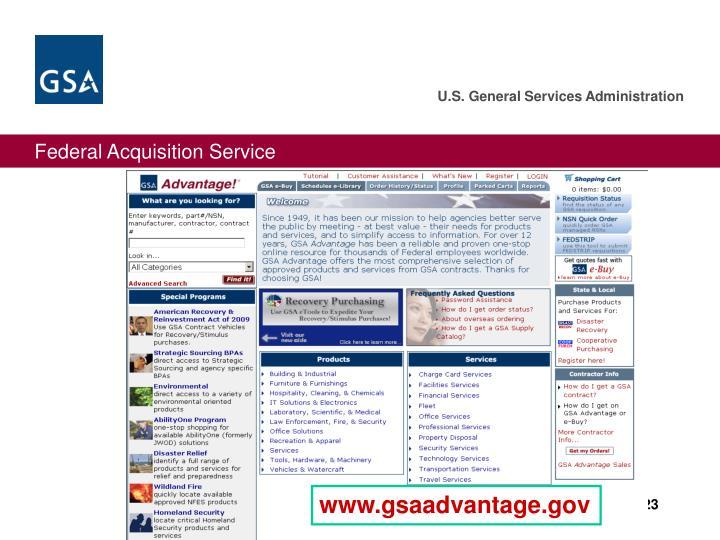 www.gsaadvantage.gov