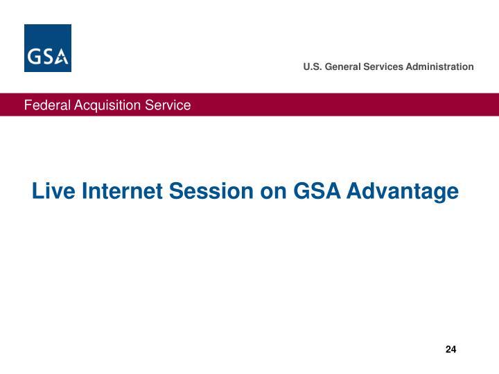 Live Internet Session on GSA Advantage