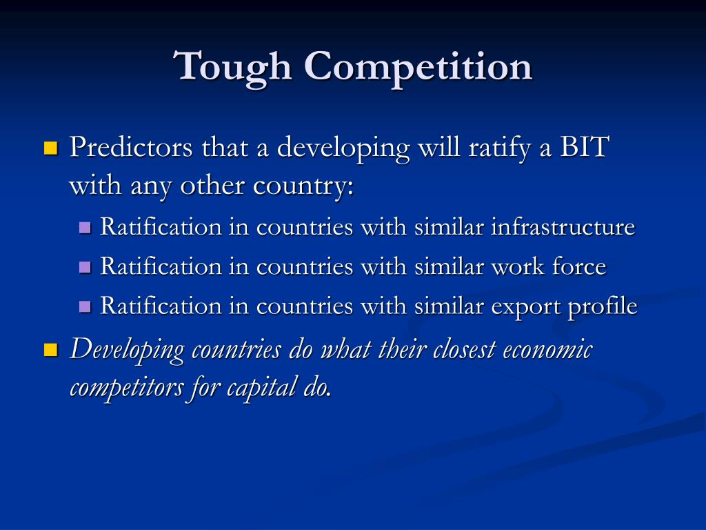 Tough Competition