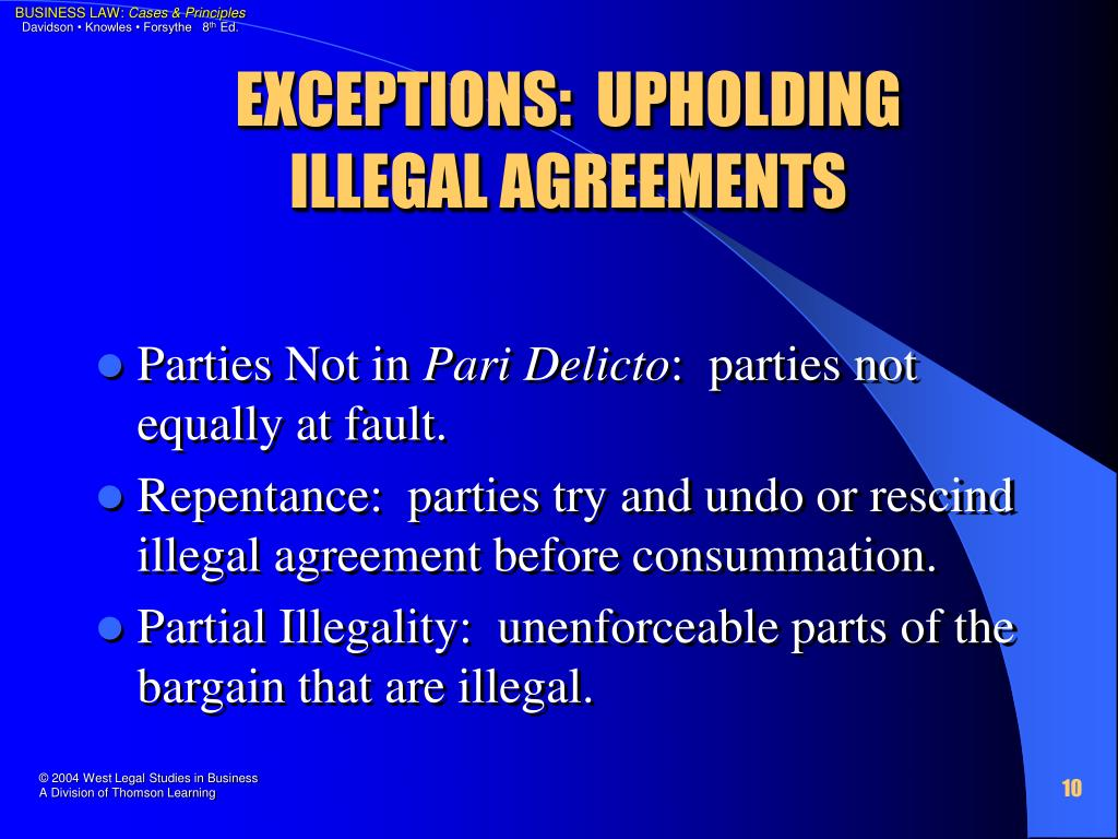 EXCEPTIONS:  UPHOLDING