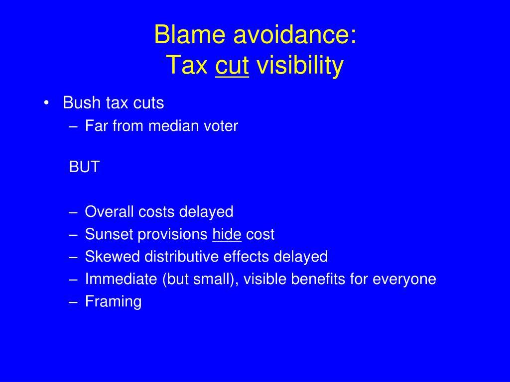 Blame avoidance: