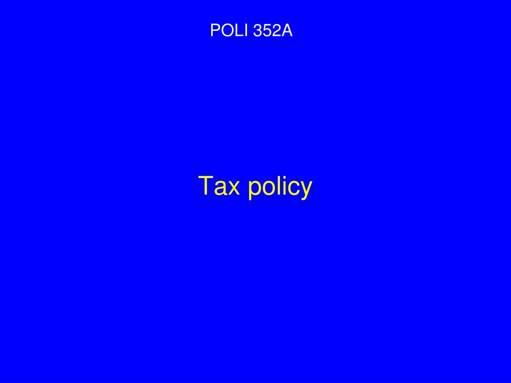 Tax policy