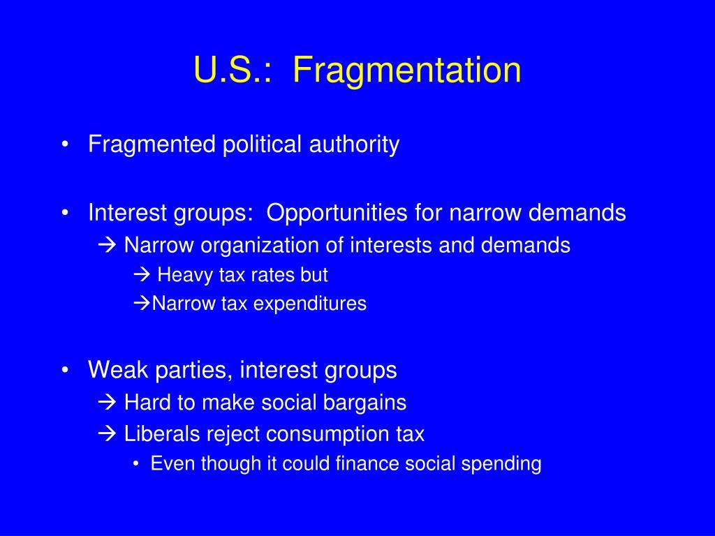 U.S.:  Fragmentation
