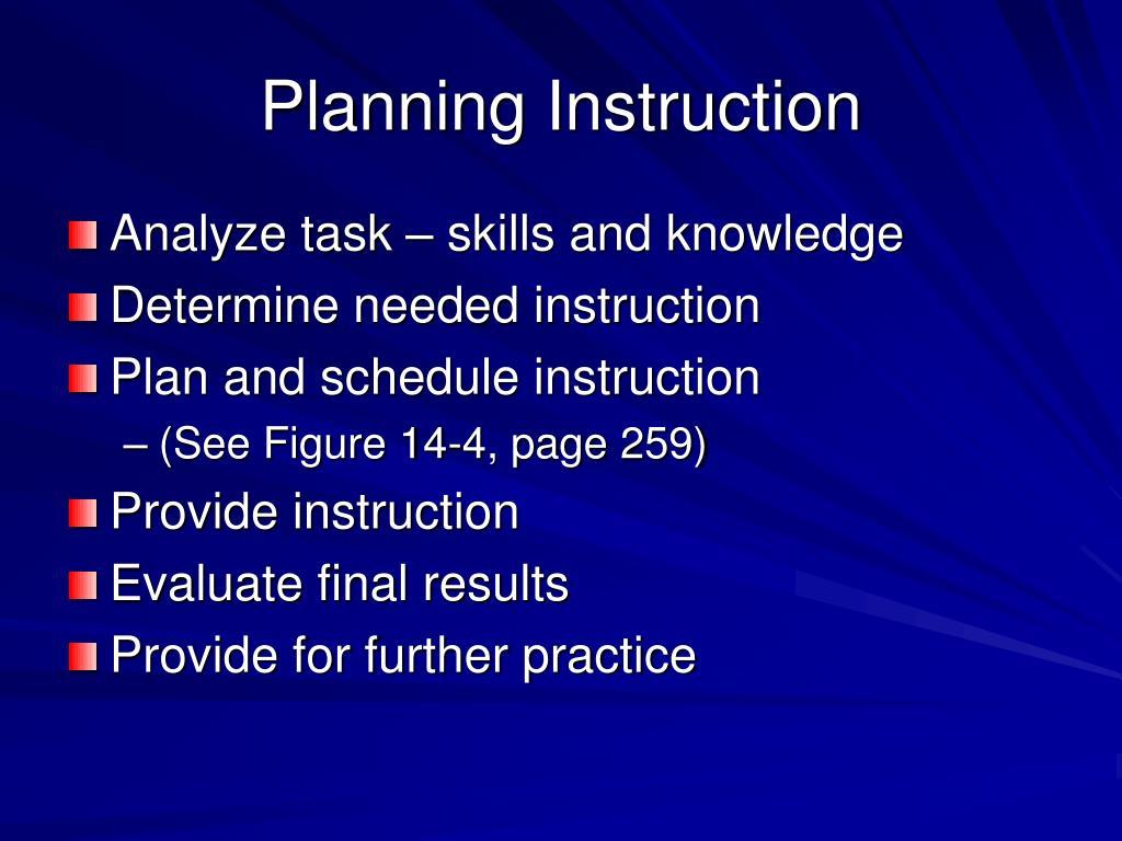 Planning Instruction