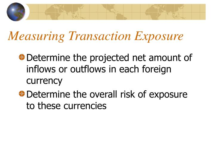 measuring exposure to exchange rate fluctuations Chapter viii currency risk management at the firm they are exposed to exchange rate fluctuations face significant foreign currency exchange rate exposure and.