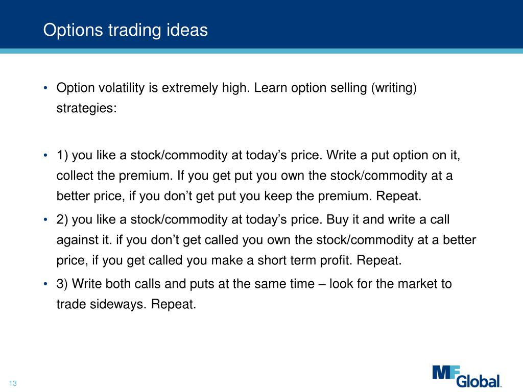 Options trading ideas