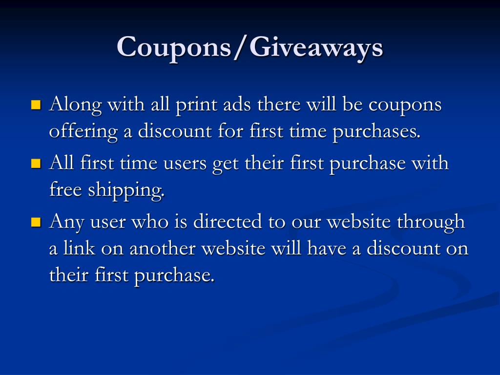 Coupons/Giveaways