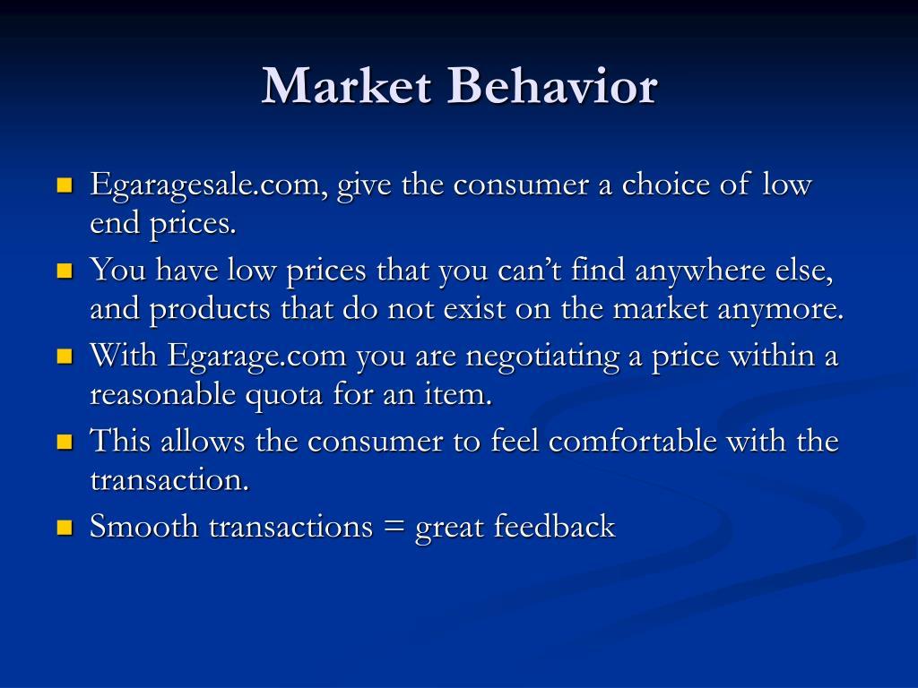 Market Behavior