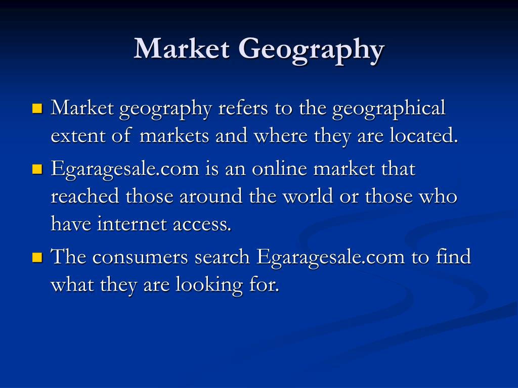 Market Geography