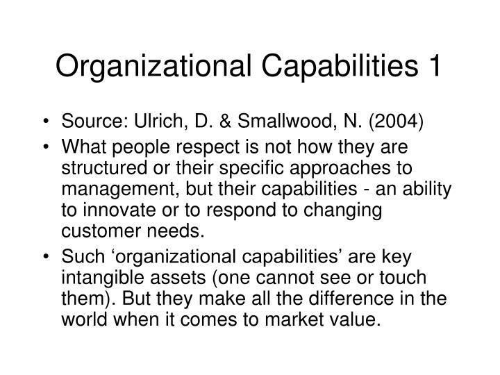 Organizational Capabilities 1