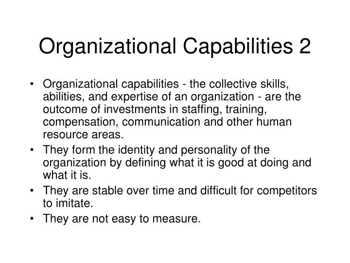 Organizational Capabilities 2