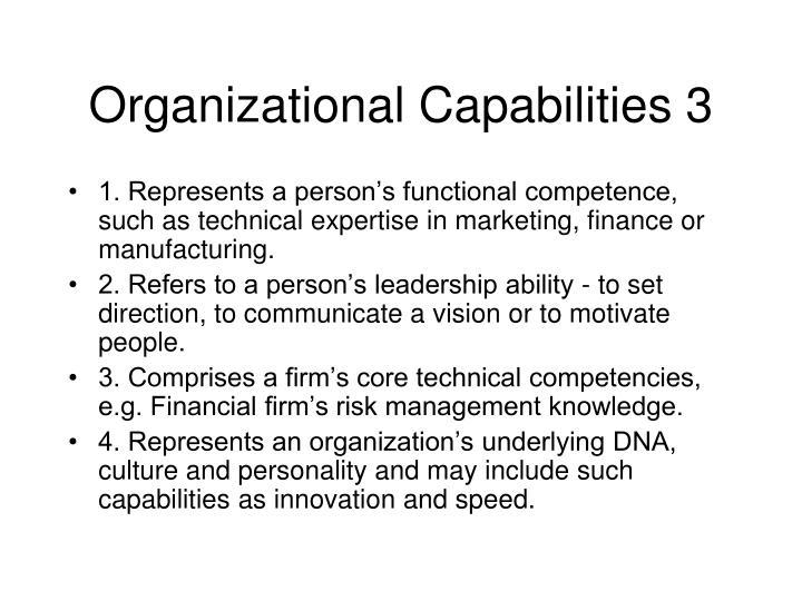 Organizational Capabilities 3