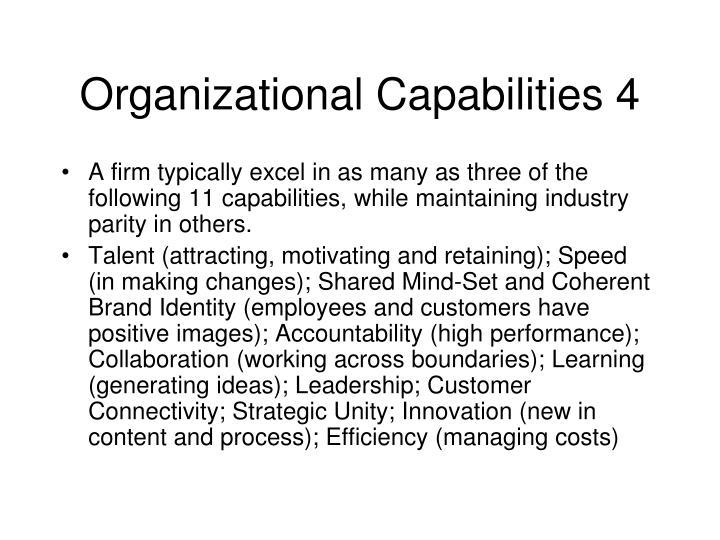 Organizational Capabilities 4