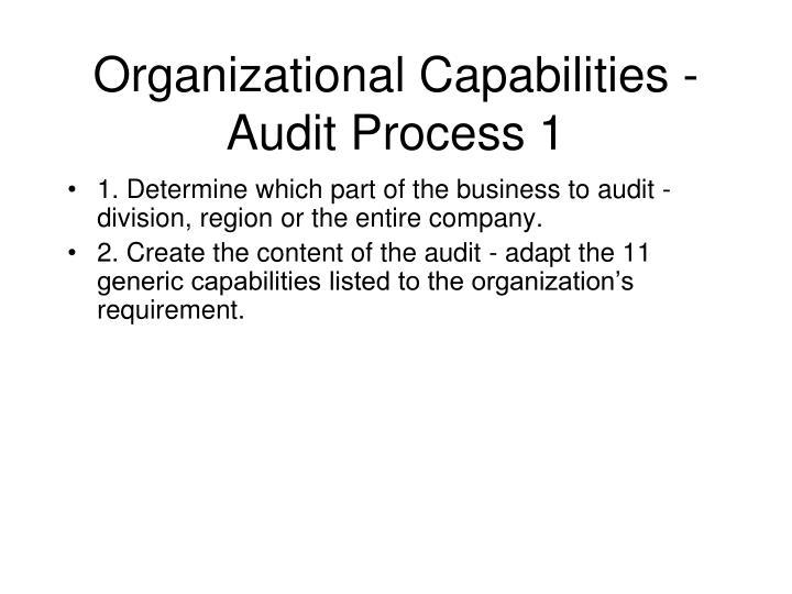 Organizational Capabilities - Audit Process 1