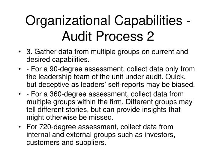 Organizational Capabilities - Audit Process 2