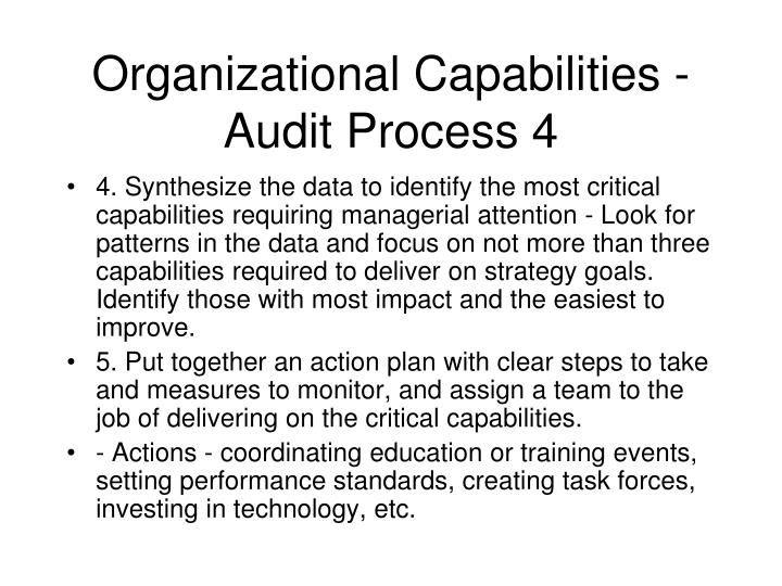 Organizational Capabilities - Audit Process 4