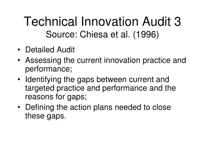 Technical Innovation Audit 3