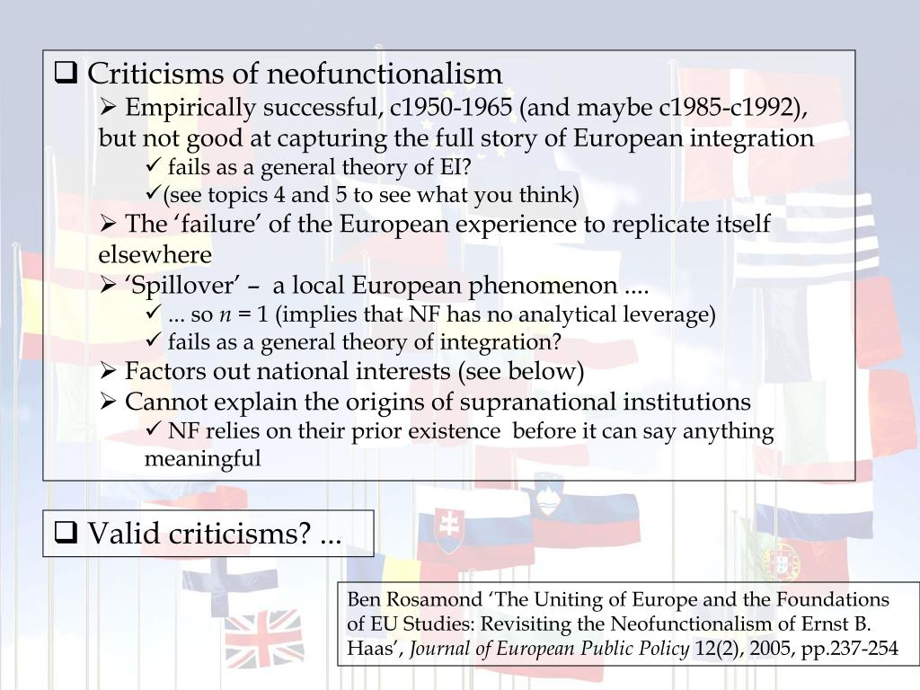 Criticisms of neofunctionalism