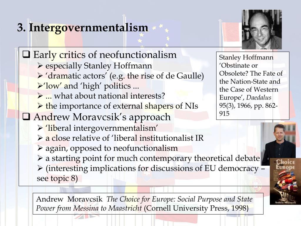 3. Intergovernmentalism