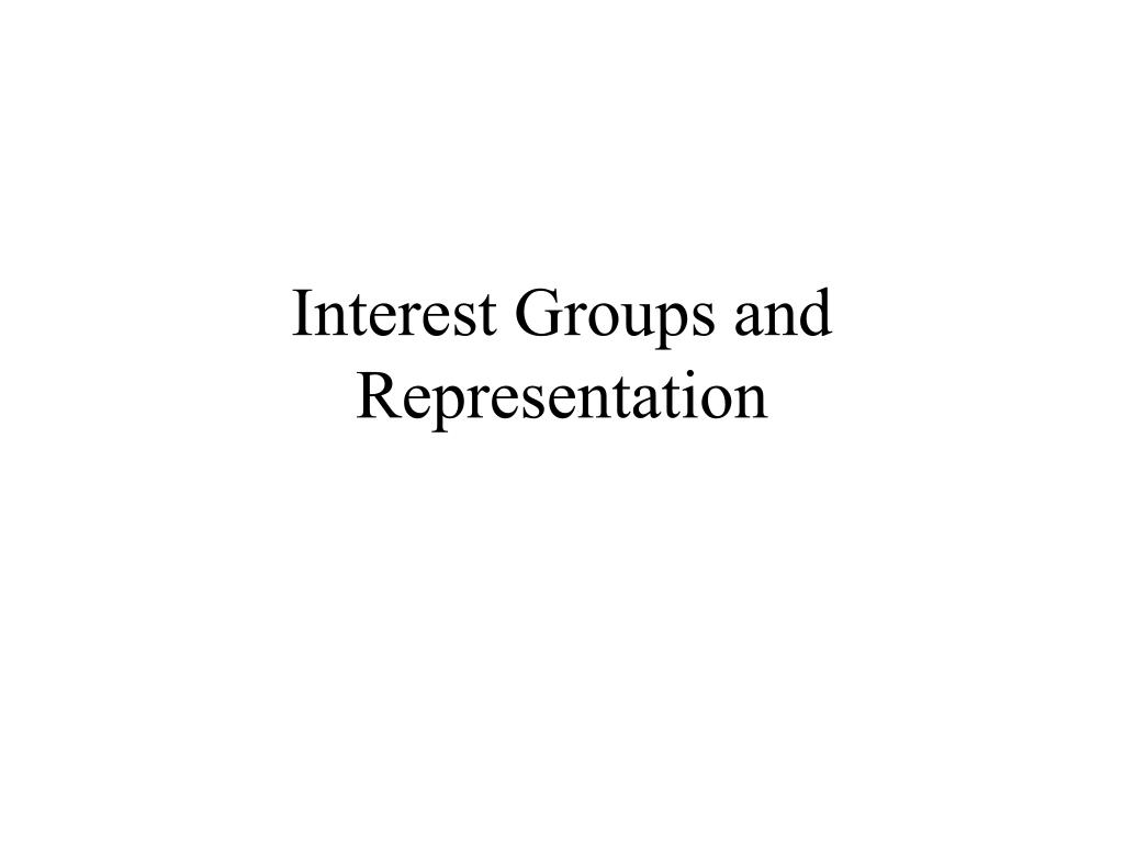 interest groups and representation