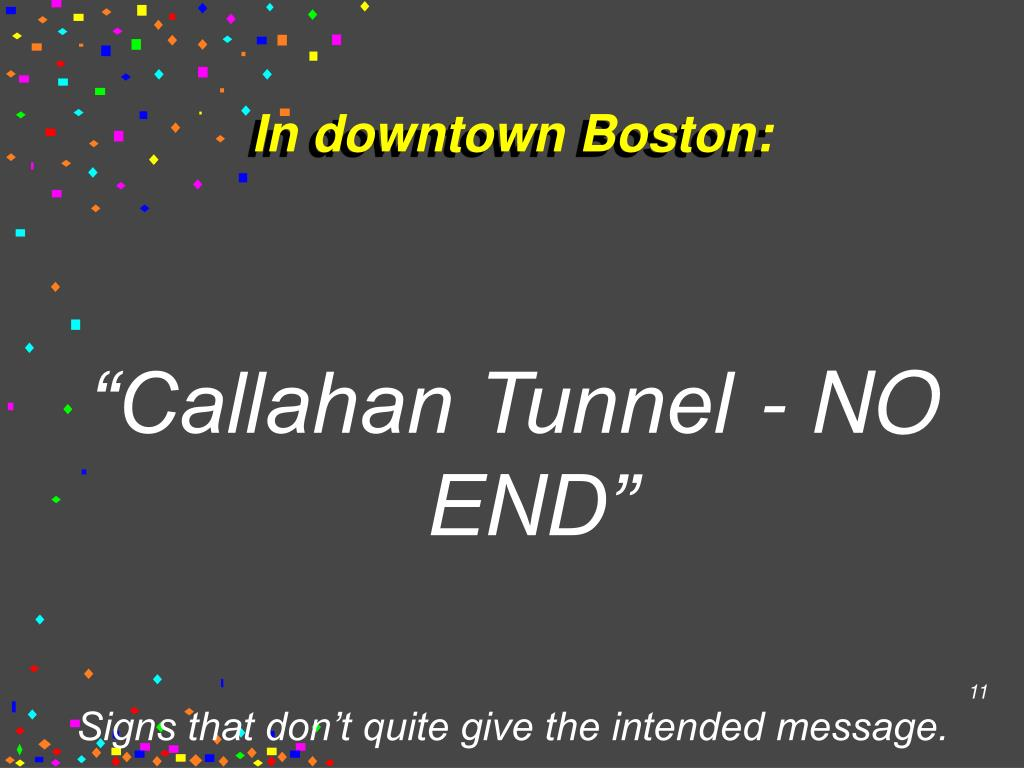 In downtown Boston: