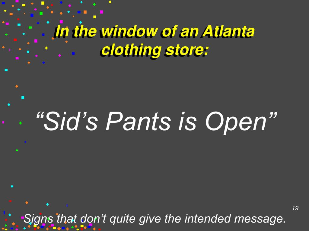 In the window of an Atlanta clothing store: