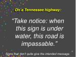 on a tennessee highway