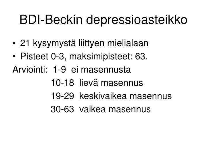 BDI-Beckin depressioasteikko