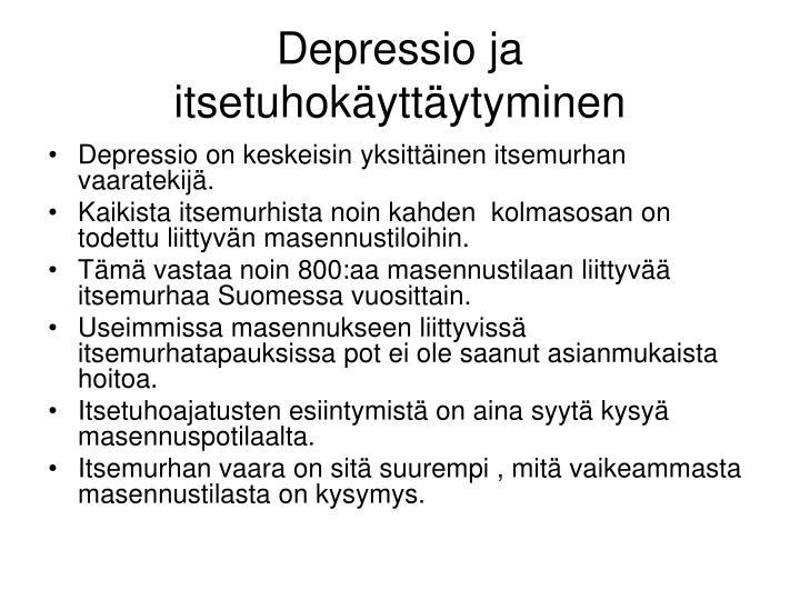 Depressio ja itsetuhokäyttäytyminen