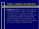 some common trustbusters99