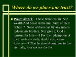 where do we place our trust38