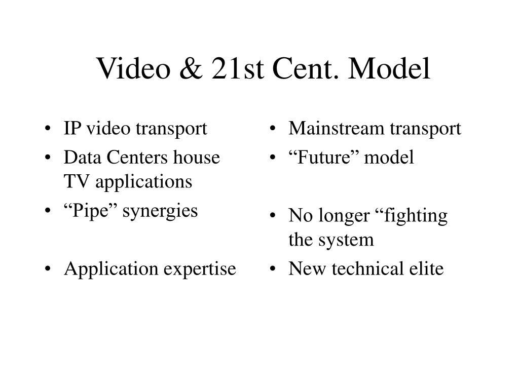 IP video transport