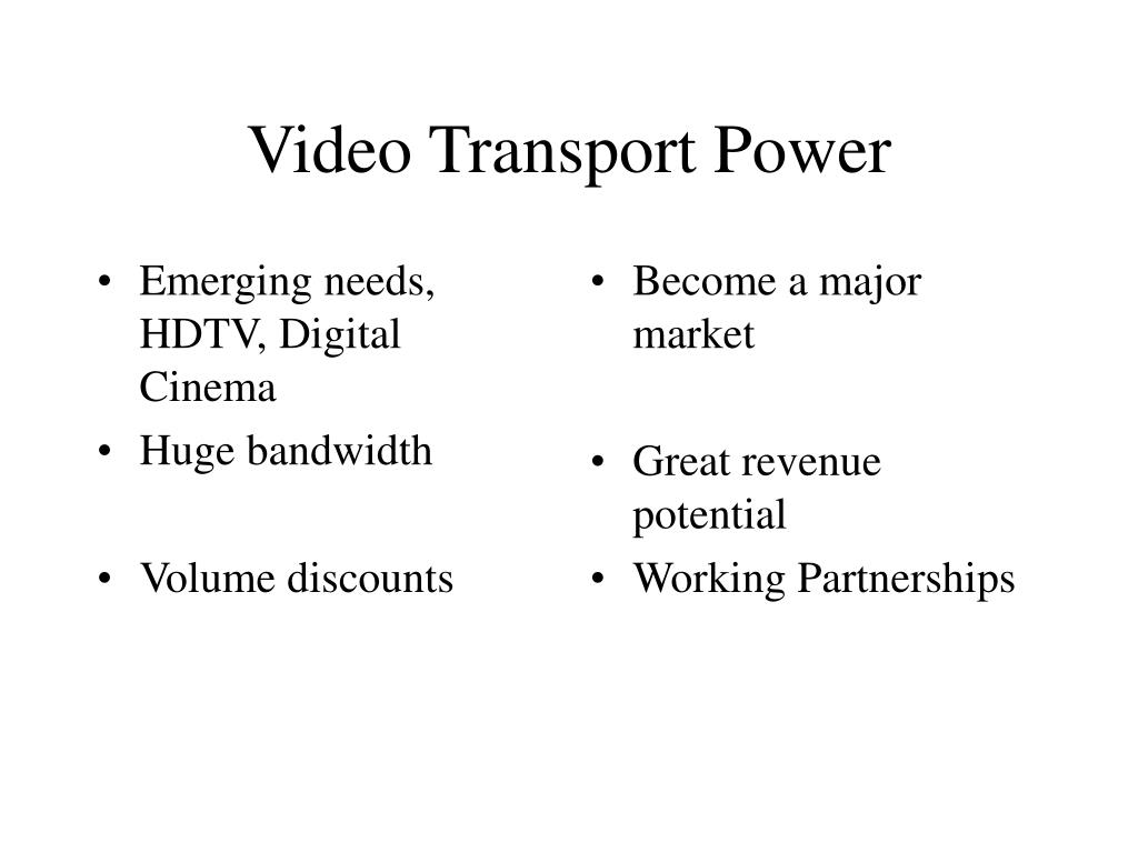 Emerging needs, HDTV, Digital Cinema