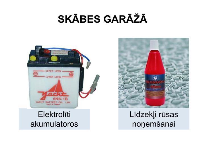 SKĀBES GARĀŽĀ